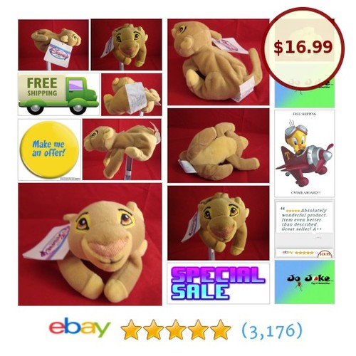 DISNEY STORE EXCLUSIVE-SIMBA BEAN PLUSH-8 IN-THE LION KING-RARE-NEW/TAGS-UNIQUE! | eBay #DISNEYSTOREEXCLUSIVE #etsy #PromoteEbay #PictureVideo @SharePicVideo