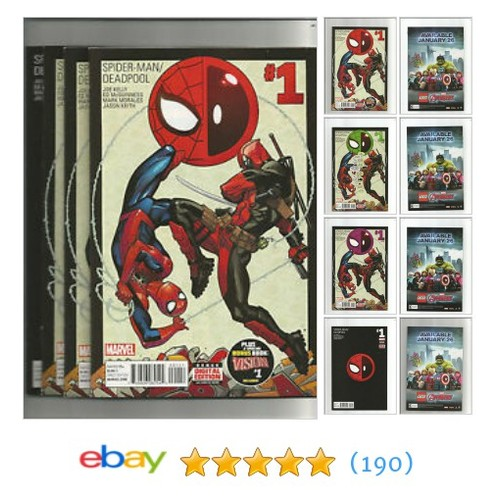 SPIDER-MAN/DEADPOOL #1 - 1st, 3rd, 4th, & 6th Print Lot (2016 #ebay @toothpickcomics https://www.SharePicVideo.com/?ref=PostPicVideoToTwitter-toothpickcomics #etsy #PromoteEbay #PictureVideo @SharePicVideo
