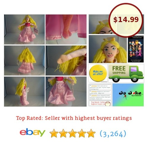 DISNEY STORE-PRINCESS AURORA-BEAN PLUSH-8 IN-PINK GOWN-LONG HAIR-NEW/TAGS-UNIQUE | eBay #Disney #etsy #PromoteEbay #PictureVideo @SharePicVideo
