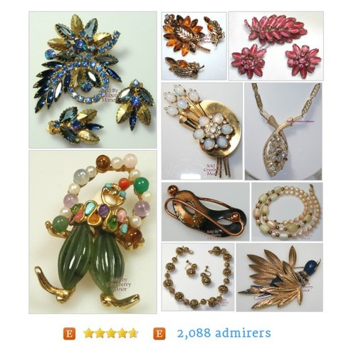 #DesignerCostumeJewelry from CranberryManor Etsy shop  #etsy #PromoteEtsy #PictureVideo @SharePicVideo