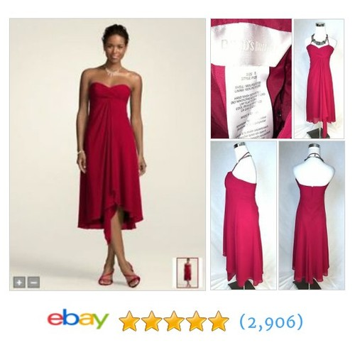 Davids Bridal F12284 Red Burgundy Dress Size 8 #ebay @gseasystreet  #etsy #PromoteEbay #PictureVideo @SharePicVideo