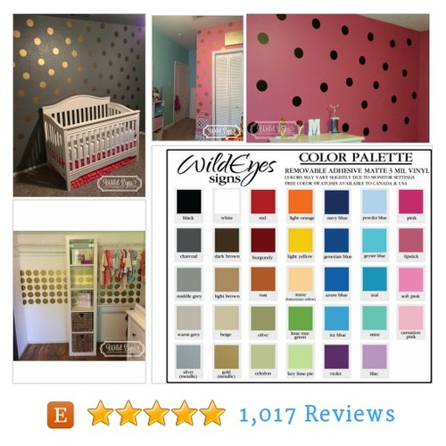 Poka Dots, Polka Dot, Circle Wall Decals - #etsy @wildeyessigns  #etsy #PromoteEtsy #PictureVideo @SharePicVideo