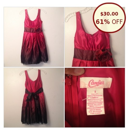 🌹 Candie's Ombré Formal Dress 1/XS/S EUC @oncethriftshop https://www.SharePicVideo.com/?ref=PostPicVideoToTwitter-oncethriftshop #socialselling #PromoteStore #PictureVideo @SharePicVideo
