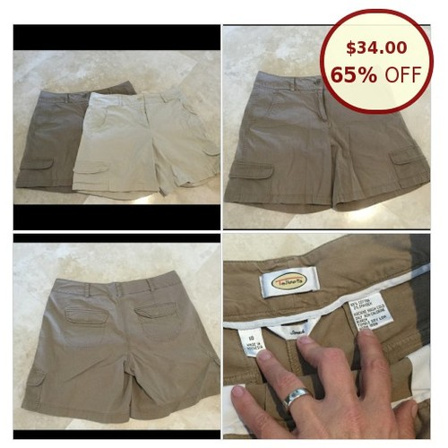 Talbots cargo shorts - bundle of 2. Size 10. @sistersclosetfl https://www.SharePicVideo.com/?ref=PostPicVideoToTwitter-sistersclosetfl #socialselling #PromoteStore #PictureVideo @SharePicVideo