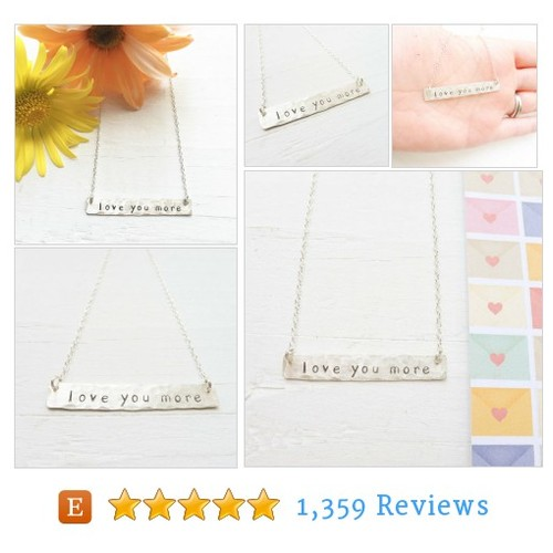 Love You More Necklace Sterling Silver #etsy @camileedesigns  #etsy #PromoteEtsy #PictureVideo @SharePicVideo