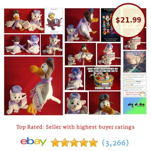 "DISNEY-ORVILLE-BIANCA-SET-OF 2- RESCUERS-8""-BEAN PLUSHES-DISNEY STORE-NEW/TAGS 