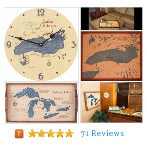 Lake Ontario|Wood Clock|Wood Chart|Wood #etsy @nauticalnorth  #etsy #PromoteEtsy #PictureVideo @SharePicVideo
