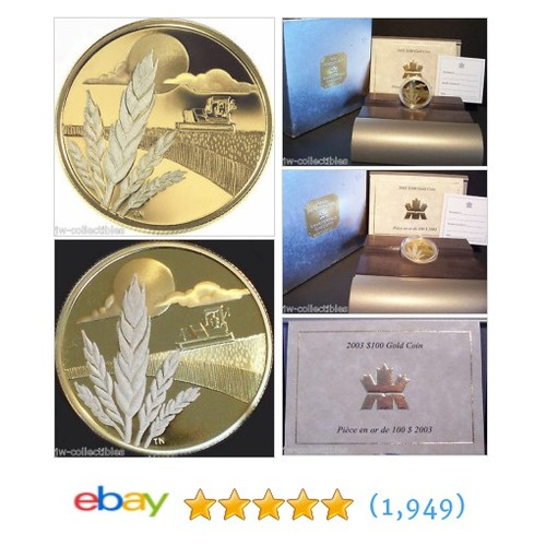 2003 CANADA $100 MARQUIS WHEAT Discovery14k 1/4oz GOLD Coin w/COA NO #ebay @jw_collectibles  #etsy #PromoteEbay #PictureVideo @SharePicVideo