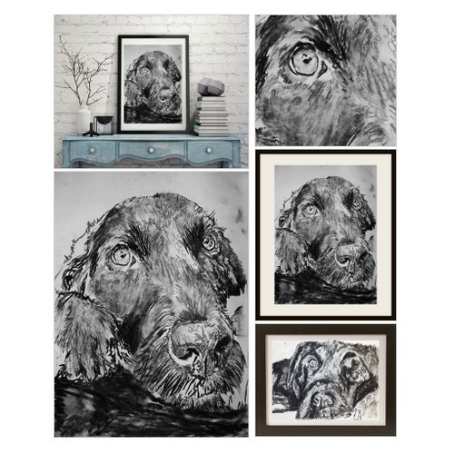 Black Labrador Charcoal art print black and white lab dog art print @oscarjetson #shopify https://SharePicVideo.com?ref=PostVideoToTwitter-oscarjetson #socialselling #PromoteStore #PictureVideo @SharePicVideo