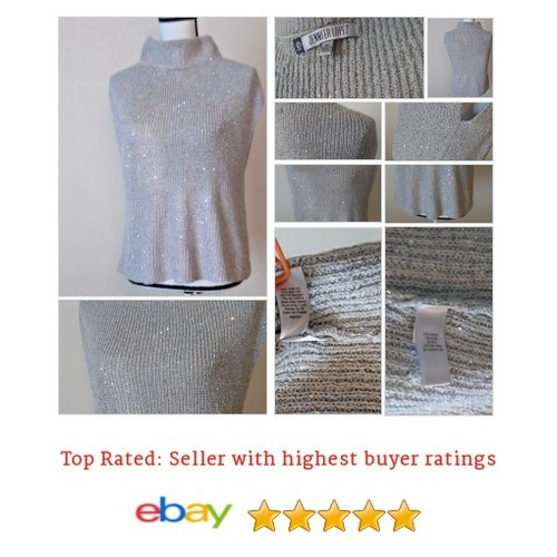 Jennifer Lopez #Sweater Silver Sequin | eBay #Mock #Turtleneck #etsy #PromoteEbay #PictureVideo @SharePicVideo
