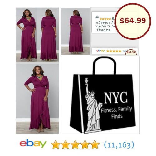 💖A purple #maxi to love💖. Nice that it's a true wrap #PlusSize gown. Dress will fit exactly way you want.💖 #etsy #PromoteEbay #PictureVideo @SharePicVideo