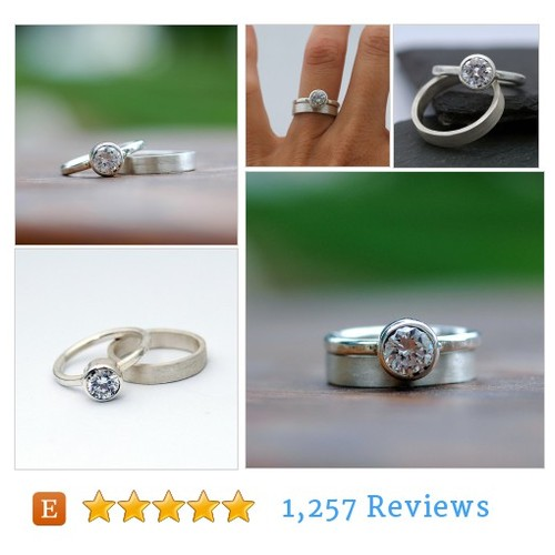Wedding Ring Set - Engagement Ring - #etsy @studiojewel  #etsy #PromoteEtsy #PictureVideo @SharePicVideo