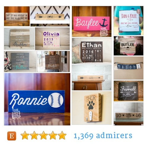Custom Handmade Signs #etsy shop #customhandmadesign @lovebuiltshop  #etsy #PromoteEtsy #PictureVideo @SharePicVideo