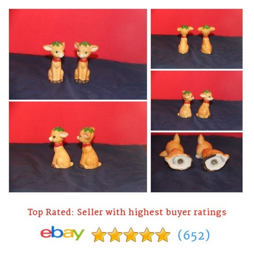 Reindeer Salt and Pepper Shakers by J.S. New York #ebay @ebayfoley  #etsy #PromoteEbay #PictureVideo @SharePicVideo