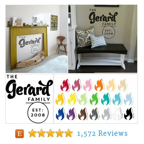 Unique Custom Family Name Wall Decal with #etsy @fhinabasbair  #etsy #PromoteEtsy #PictureVideo @SharePicVideo