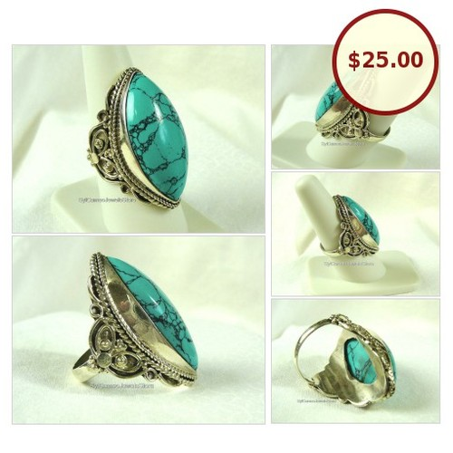 #TurquoiseStone #SterlingSilver #Hobo #Ring #HandCrafted #Jewelry Sz US 8.5 #SylCameoJewelsStore #etsyspecialt #StatementRing @etsyRT #integritytt #SocialMedia  #etsy #PromoteEtsy #PictureVideo @SharePicVideo