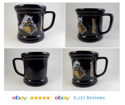 New PURDUE Mug Embossed Black Boilermakers University #Souvenir #FanApparel #CollegeNCAA #etsy #PromoteEbay #PictureVideo @SharePicVideo