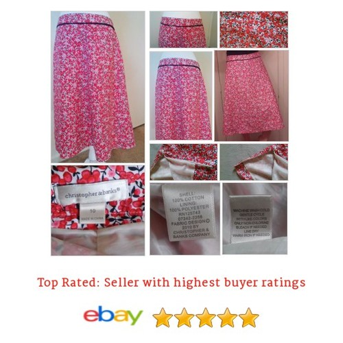 Christopher & Banks #Skirt Cherry Blossom Print Sz 10 Lined Large Medium | eBay #Bank #ALine #etsy #PromoteEbay #PictureVideo @SharePicVideo