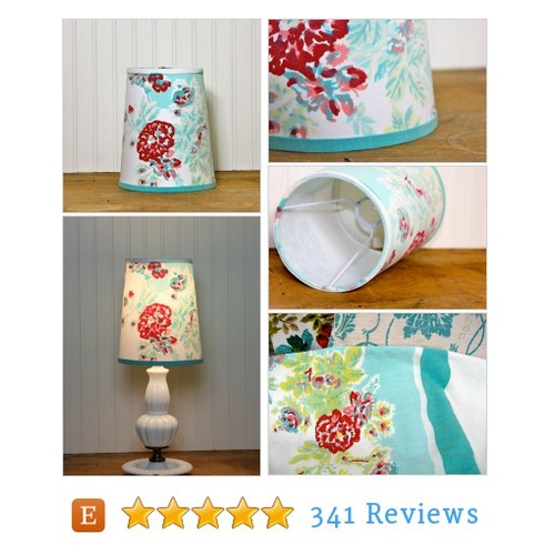 SALE - Floral Lamp Shade - Vintage #etsy @sassyshades  #etsy #PromoteEtsy #PictureVideo @SharePicVideo