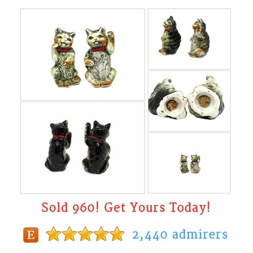 Vintage Cat Salt and Pepper Shakers | Character Salt and Pepper Shakers  @derbayz #etsy https://SharePicVideo.com?ref=PostVideoToTwitter-derbayz #etsy #PromoteEtsy #PictureVideo @SharePicVideo