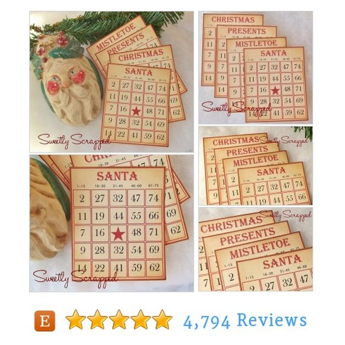 SALE Vintage Christmas Bingo Cards, Set of #etsy @sweetlyscrapped https://www.SharePicVideo.com/?ref=PostPicVideoToTwitter-sweetlyscrapped #etsy #PromoteEtsy #PictureVideo @SharePicVideo