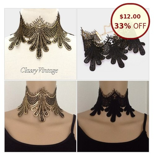 Reversible gold to black lace choker @classyvintage1 https://www.SharePicVideo.com/?ref=PostPicVideoToTwitter-classyvintage1 #socialselling #PromoteStore #PictureVideo @SharePicVideo