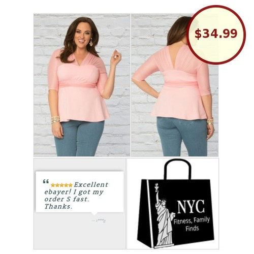 Reach for this #PlusSize pink #empirewaist top when you want to look totally awesome! #etsy #PromoteEbay #PictureVideo @SharePicVideo