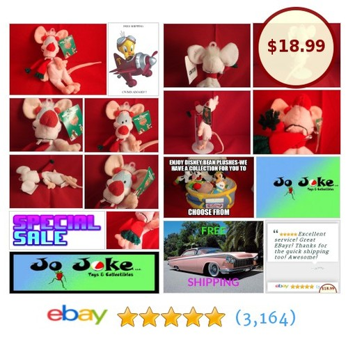 WARNER BROS STUDIO STORE-PINKY CHRISTMAS BEAN PLUSH-1998-EARMUFF-10 IN-NEW/TAGS! | eBay #WARNERBROSSTUDIOSTORE #etsy #PromoteEbay #PictureVideo @SharePicVideo