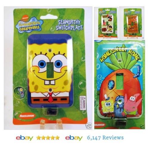 cookiebabe | eBay SPONGEBOB SQUAREPANTS Switchplate Light Covers New! #ebay #PromoteEbay #PictureVideo @SharePicVideo