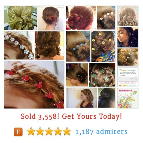 #Wedding - JEWELRY FOR YOUR HAIR by HairSwirls1 Etsy shop  What's in Your #Hair #etsy #PromoteEtsy #PictureVideo @SharePicVideo