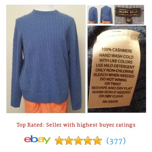 Allen Solly Men Size L 100% 2 ply Cashmere Sweater Blue Crewneck | #ebay @brandbazzar  #etsy #PromoteEbay #PictureVideo @SharePicVideo