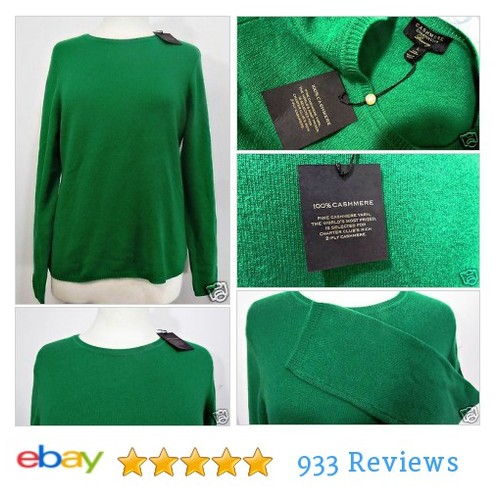100% Cashmere Charter Club Womens #Sweater Crew Neck Solid Green Size L 2 Ply | eBay #Crewneck #CharterClub #etsy #PromoteEbay #PictureVideo @SharePicVideo