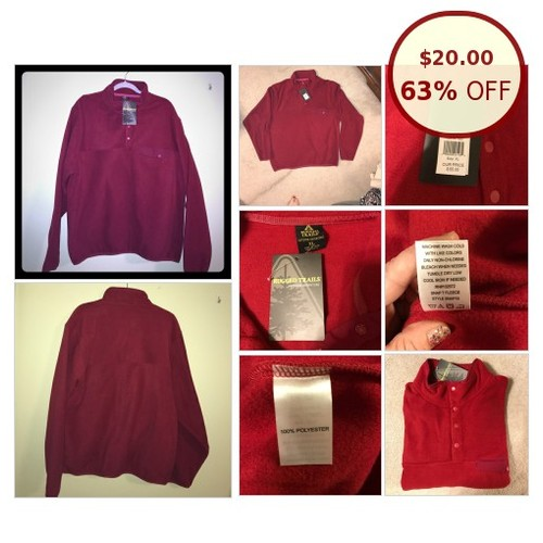 Men's XL Rugged Trails Fleece pullover. NWT @dana_mcphee https://www.SharePicVideo.com/?ref=PostPicVideoToTwitter-dana_mcphee #socialselling #PromoteStore #PictureVideo @SharePicVideo
