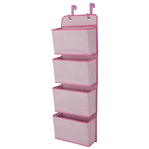 Delta Children 4 Pocket Hanging Wall Organizer, Barely Pink #socialselling #PromoteStore #PictureVideo @SharePicVideo