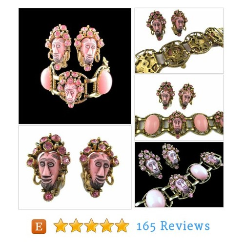 Vintage Selro Pink African Rhinestone Demi #etsy @bajanlizard  #etsy #PromoteEtsy #PictureVideo @SharePicVideo