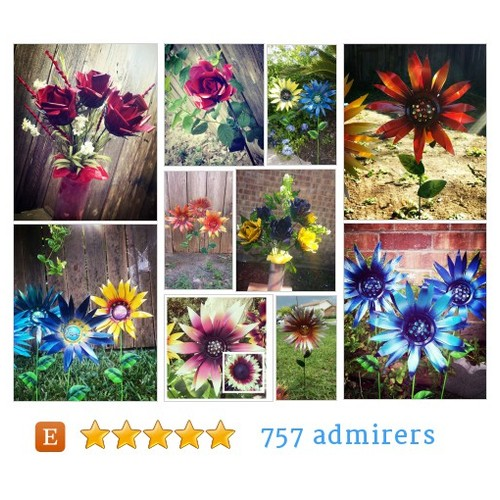 Glittering Garden Stakes by GardenDreamsDecor Etsy shop @BookLove101  #etsy #PromoteEtsy #PictureVideo @SharePicVideo