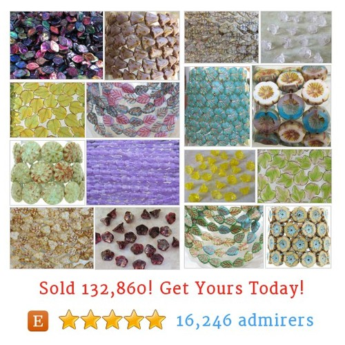 FLOWER & LEAVE BEADS Etsy shop #flower #leavebead #etsy @beadsandbabble  #etsy #PromoteEtsy #PictureVideo @SharePicVideo