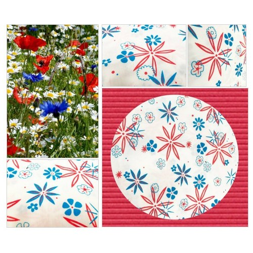Retro Floral Fabric Vintage Mid Century Fabric Mod Flower Print Red and Blue Flowers Quilting Crafting Sewing Vintage Fabric #etsyspecialt #integritytt #SpecialTGIF #Specialtoo  #TMTinsta     @SGH_RTs  #est @DestelloRTs @Quickest_Rts #etsy #PromoteEtsy #PictureVideo @SharePicVideo