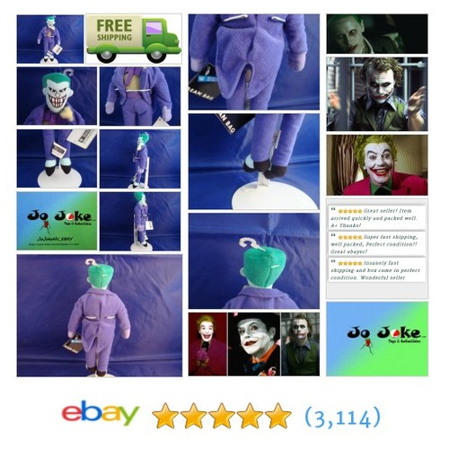 WARNER BROS STUDIO STORE-THE JOKER-10 INCH BEAN PLUSH-NEFARIOUS SMILE-NEW/TAGS- | eBay #WARNERBROSSTUDIOSTORE #etsy #PromoteEbay #PictureVideo @SharePicVideo
