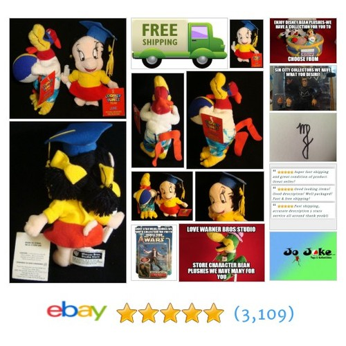 WARNER BROS.-1998-FOGHORN LEGHORN & PETUNIA BEAN/PLUSH-NEW WITH TAGS-RETIRED~!~ | eBay #LOONEYTUNE #etsy #PromoteEbay #PictureVideo @SharePicVideo