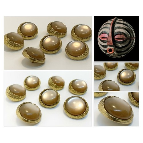 Brass Buttons Vintage Metal Buttons with Moon Glow Cabochon Setting New Old Stock  #etsyspecialt  #SpecialTGIF   #TMTinsta  @BlazedRTs @SGH_RTs @SpxcRTs @SympathyRTs #Vintagebuttons #moonglowbuttons #shankbuttons #brassbuttons #sewingnotions #etsy #PromoteEtsy #PictureVideo @SharePicVideo