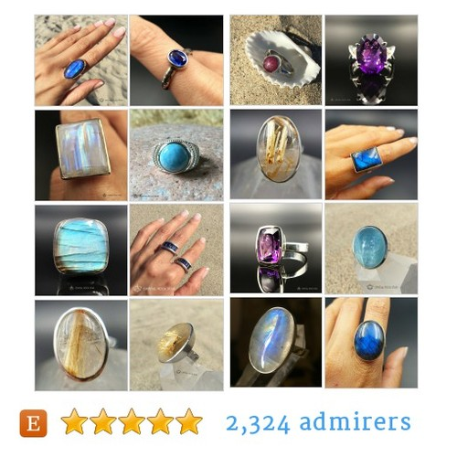 Crystal Gemstone Rings #etsy shop #crystalgemstonering @crystalrockers  #etsy #PromoteEtsy #PictureVideo @SharePicVideo