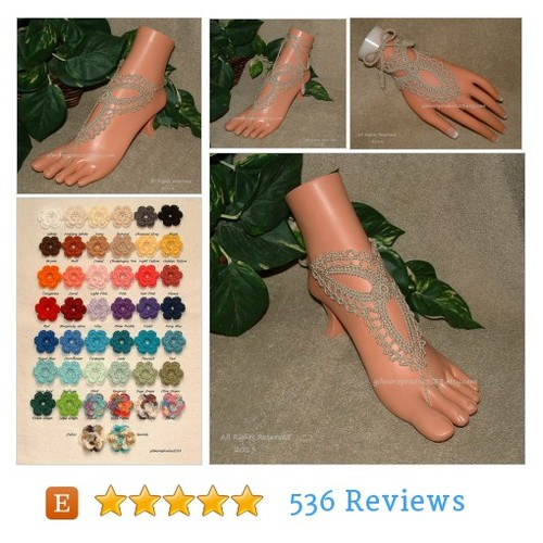Handmade Tan Barefoot Sandals Anklet Foot #etsy @gilmoreproducts  #etsy #PromoteEtsy #PictureVideo @SharePicVideo
