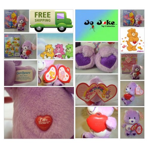 "VALENTINE ""SHARE"" CARE BEAR-PHOTO LOCKET-7""-NEW/TAGS-RETIRED-BOX OF CARDS-BAG~!~ #socialselling #PromoteStore #PictureVideo @SharePicVideo"