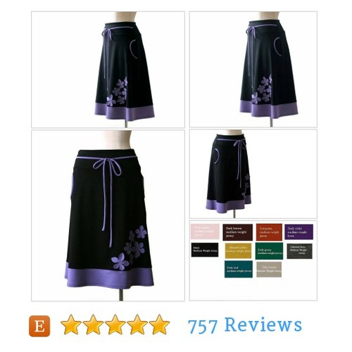 Aline #skirt with flowers application. #etsy @tasifashion  #etsy #PromoteEtsy #PictureVideo @SharePicVideo