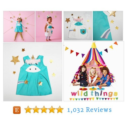 Unicorn costume play dress up pinafore by #etsy @wildthingsdress  #etsy #PromoteEtsy #PictureVideo @SharePicVideo