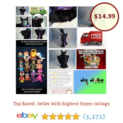 DISNEY STORE-MALEFICENT BEAN PLUSH-8 IN-SLEEPING BEAUTY WITCH-NEW/TAGS-UNIQUE!!! | eBay #DisneySTORE #etsy #PromoteEbay #PictureVideo @SharePicVideo