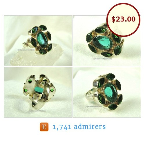 #Statement #Ring #GreenQuartz #Gemstone #SterlingSilver #HandCrafted #SylCameoJewelsStore Sz US 8.5 #Jewelry #HoboRing #etsyspecialt #TintegrityT @iPromotable @etsyRT  #etsy #PromoteEtsy #PictureVideo @SharePicVideo