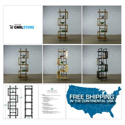 #TUCSON MODERN INDUSTRIAL ETAGERE BOOKCASE DISPLAY .. Your order will help 7 TREES GET PLANTED in developing countries throughout the world. For each item ordered 7 trees get planted. #socialselling #PromoteStore #PictureVideo @SharePicVideo
