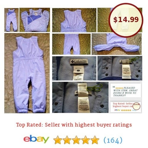 Columbia Girls Snow Overalls Size 3t Lavender Purple Adjustable Straps Insulated | eBay #Snowsuit #Columbium #etsy #PromoteEbay #PictureVideo @SharePicVideo